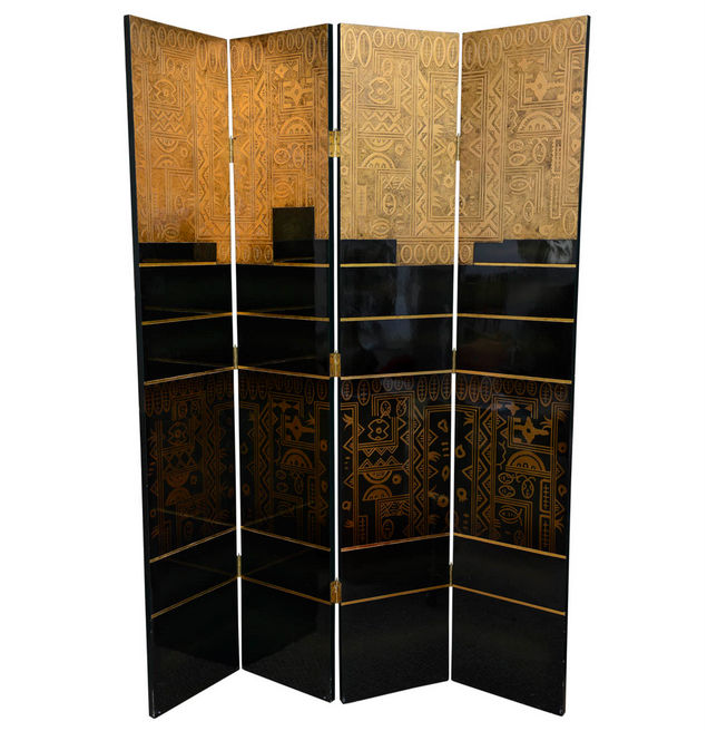 Gilded Art Deco Screen