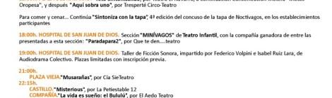 Programa Noctivagos 2014