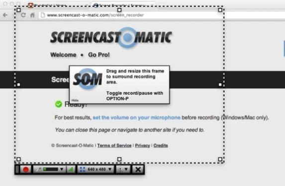 Programma Screencast-o-matic