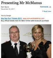 Presenting Mr McManus in The Age
