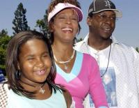 Bobby Brown Whitney Houston and daughter Bobbi