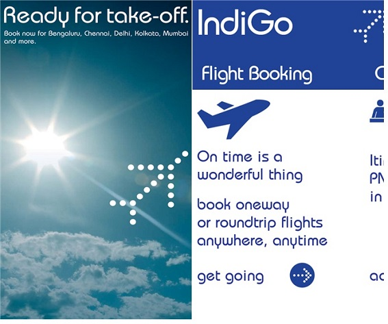Indigo airlines app for wp8 hits store app folder gets for Airline tickets buy now pay later
