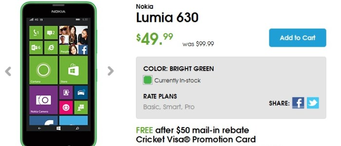 Lumia 630 cricket