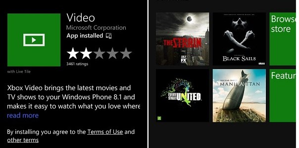 WP8.1 video