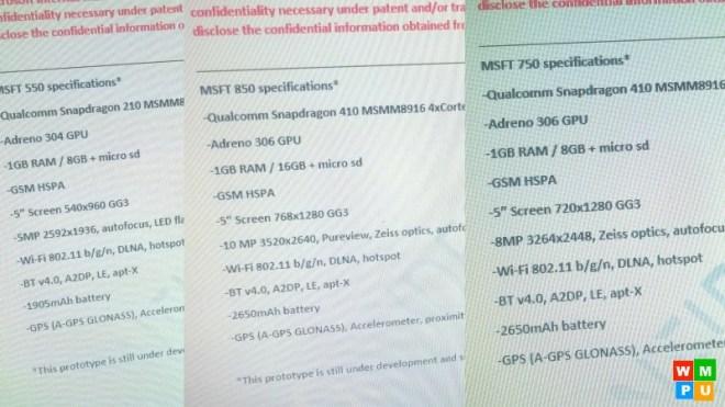 Lumia 550-750-850