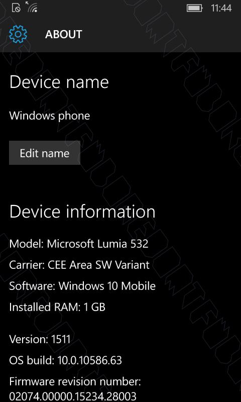 Windows 10 Mobile 10586.63