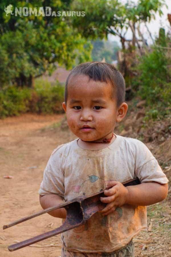 Cute kid people of Myanmar