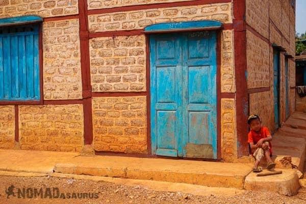 Kid door people of Myanmar