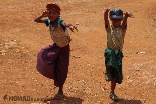 Kung fu kids people of Myanmar