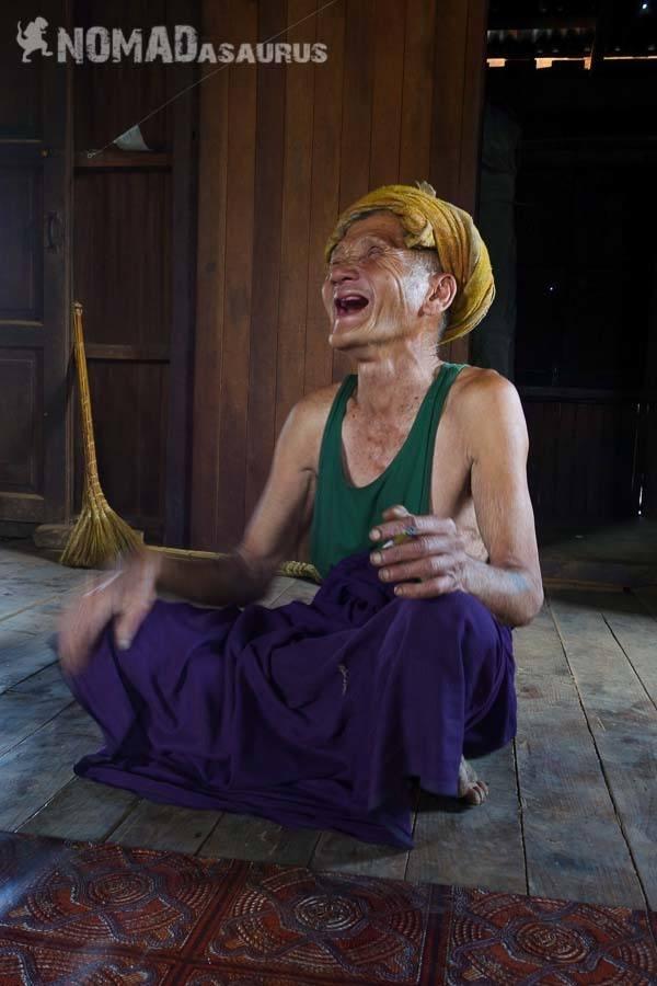 Laughing man people of Myanmar