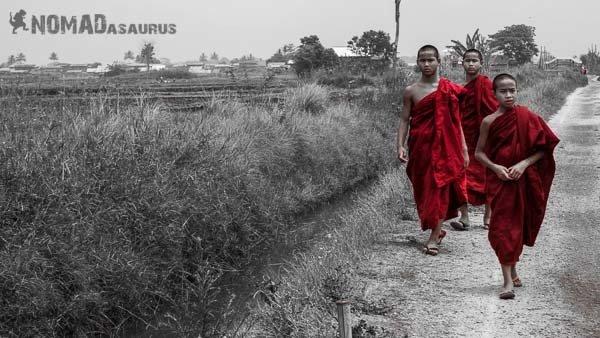 Bagan monks people of Myanmar