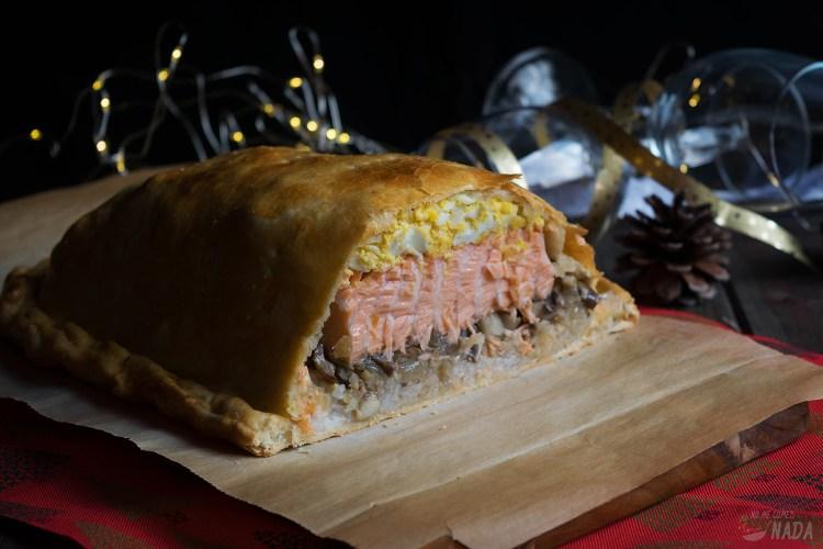 Coulibiac o pastel ruso de salmón