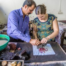 Marble, Textiles, and Silk Screen Printing in India