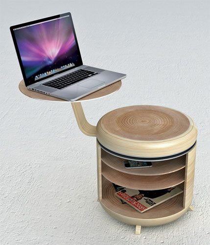 laptop stand stool
