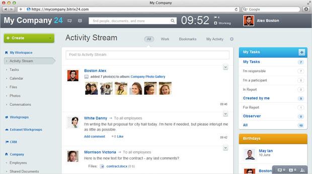 bitrix24 activity stream