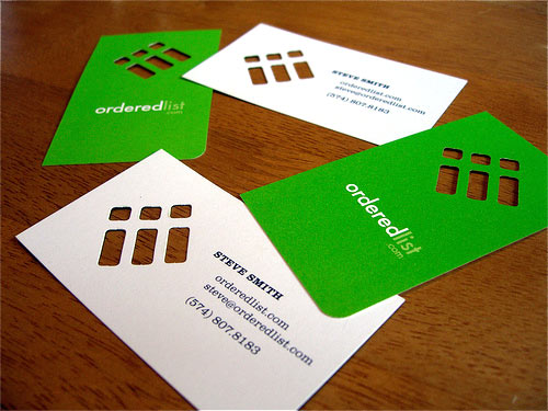 logo die cut business cards