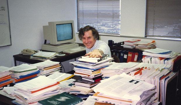 cluttered desk