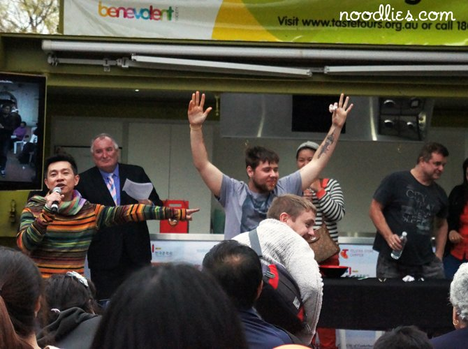 campsie food festival eating competition winner