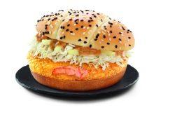 Magnificent A Crispy Panko Breaded Made Brand New Hokkaido Salmon Sourcedfrom Savour Taste Hokkaido Available From New Hokkaido Salmon Burger Features A Hokkaidosalmon Patty