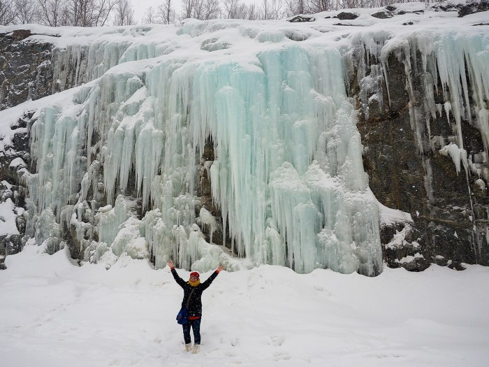 "From the blog ""A Dangerous Business"" - ice waterfall near Kåfjord"