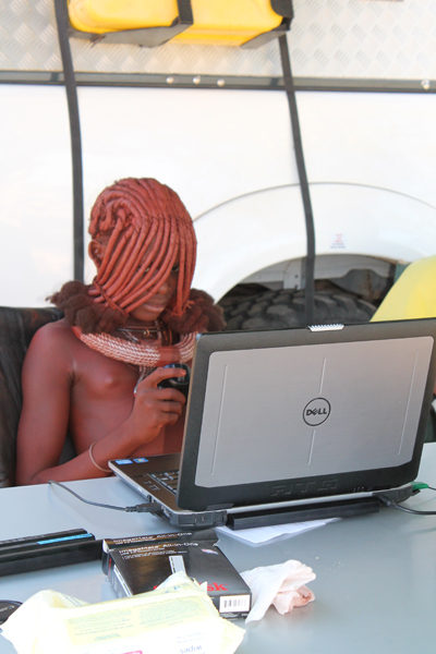 Participants in the Namibian Himba tribe did not recognize the same emotions in facial expressions and vocalizations as American participants. Photo courtesy of Maria Gendron.