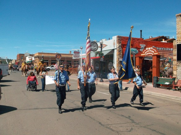 American Legion Cordova Post #13 color guard.