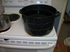 Start by boiling 5 gallons of water