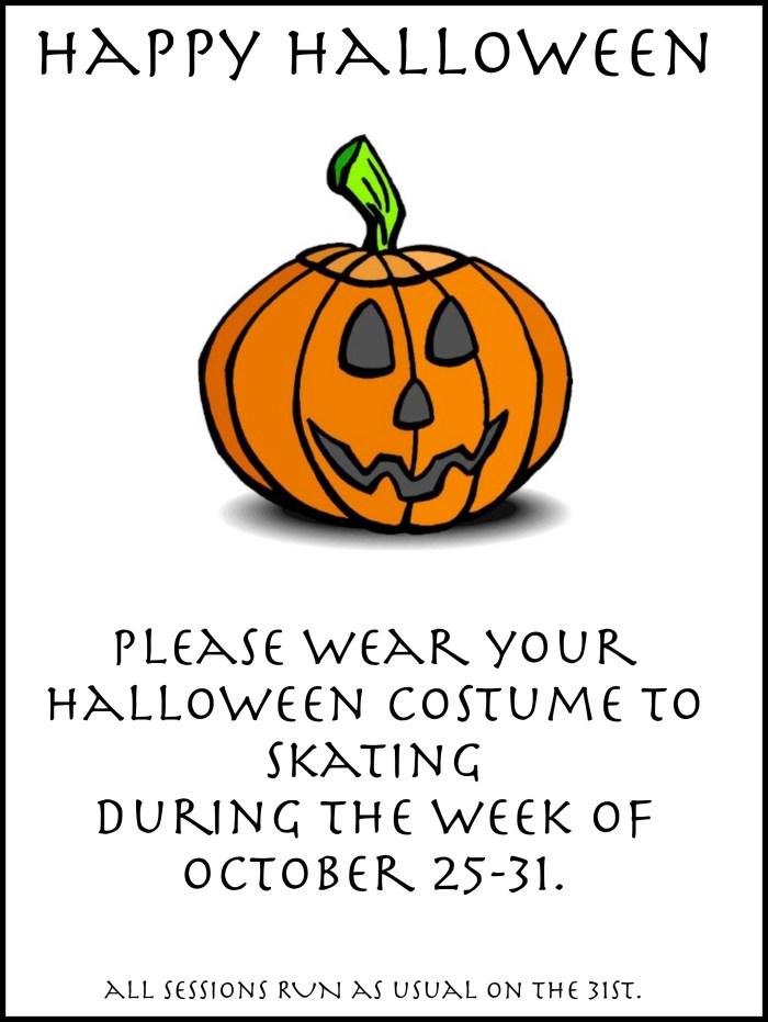 Halloween poster for skaters