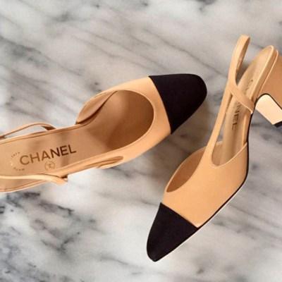 designer alternative: Chanel Sling back pump