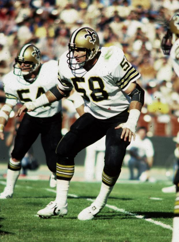 Saints Linebacker Joe Federspiel 1972-1980