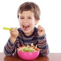 Los niños y su relación con las Verduras