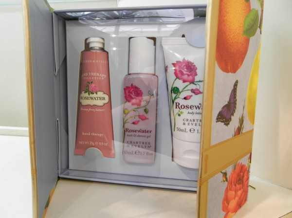 Rose Water Little Luxuries - 50ml shower gel, 50ml body lotion, 25g hand therapy