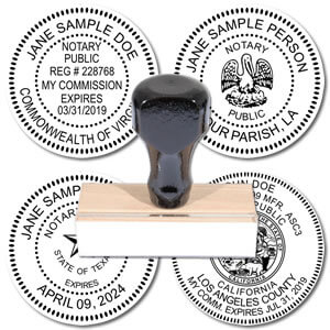 Official Round Notary Rubber stamp