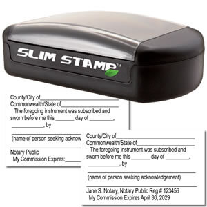 Slim Jurat Stamp