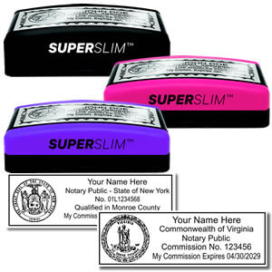 Super Slim Pre-inked Notary Stamps
