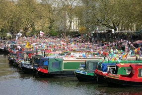 Notas desde la cabalgata de barcos en Little Venice