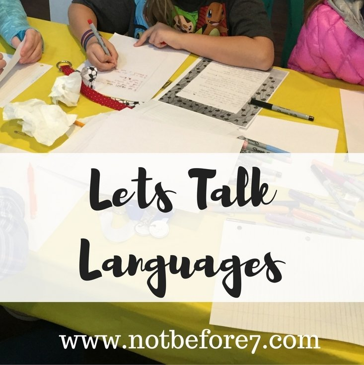 Innovative Homeschooling: Let's Talk Languages