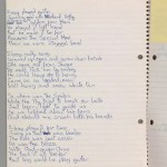 Bowie-lyrics-notebook