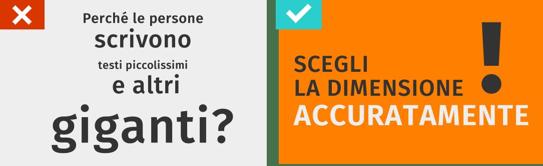 consigli dimensione font presentazioni efficaci