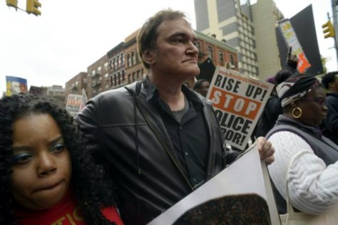 Quentin Tarantino in a march against police brutality