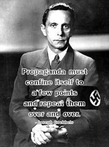 political lies image of joseph goebbels propaganda meme