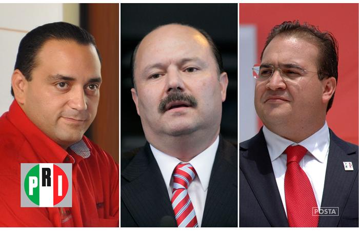 Priistas exigen expulsión de Javier Duarte, Roberto Borge y Cesar Duarte