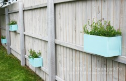 Glancing Here Planter Boxes On Stacy Risenmay Fence Garden Planters