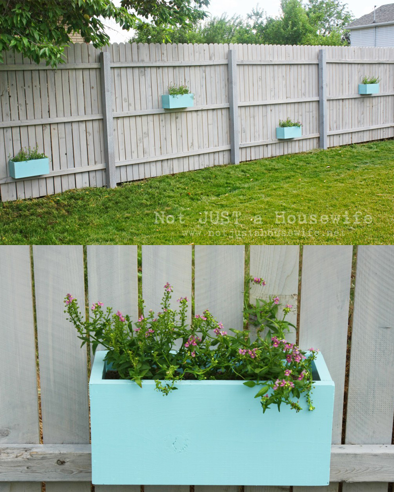 Adorable Planter Boxes On Fence Planter Boxes On Stacy Risenmay Backyard Garden Planter Box garden Backyard Garden Planter Box