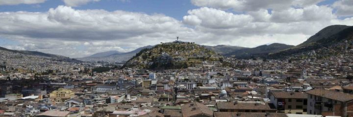 Quito with view of the Panecillo