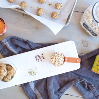 Peanut Butter Cacao Protein Balls.
