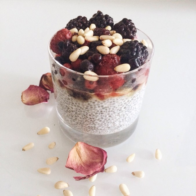 Summer Berry Chia Pudding Recipe. Vegan and gluten free by www.nourishyourglow.com