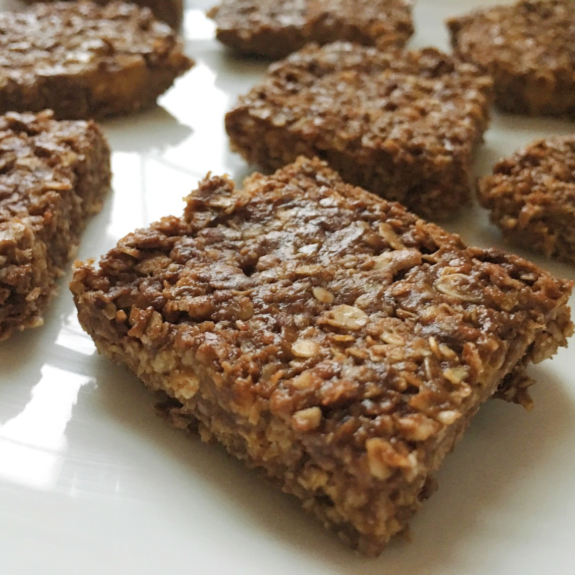 No Bake Chocolate Peanut Butter Oat Bars |