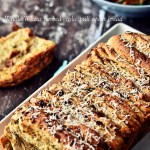 Whole wheat herbed garlic pull-apart bread