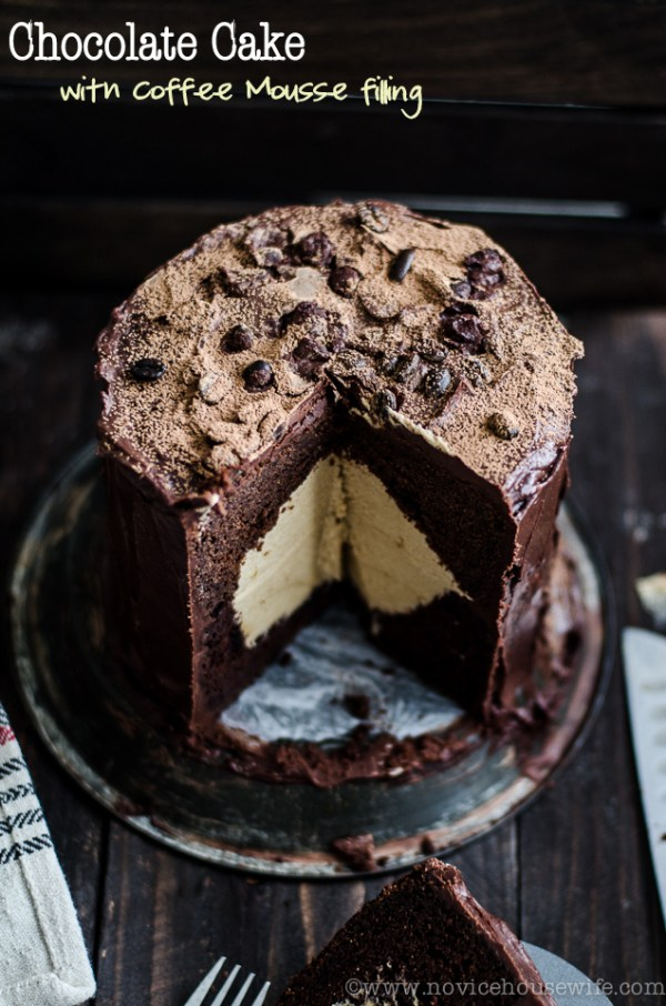 Chocolate Cake with Coffee Mousse filling...I'm in love!  | Friday Favorites on www.andersonandgrant.com